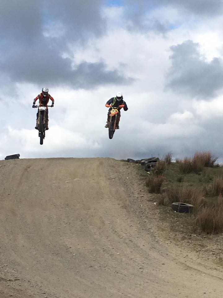 image of two bikes jumping for Cowm Leisure Off Road Centre page on Visit Rossendale website