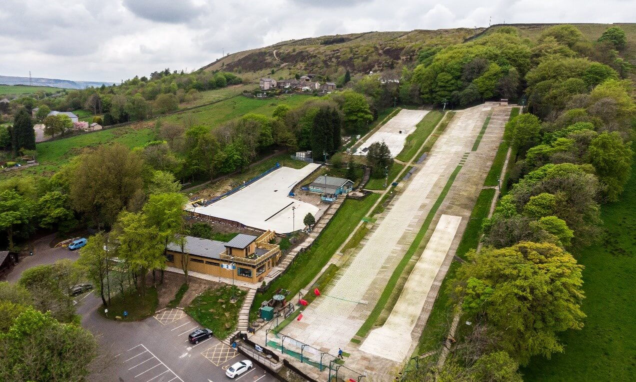 Arial photo of The Hill - Ski Rossendale
