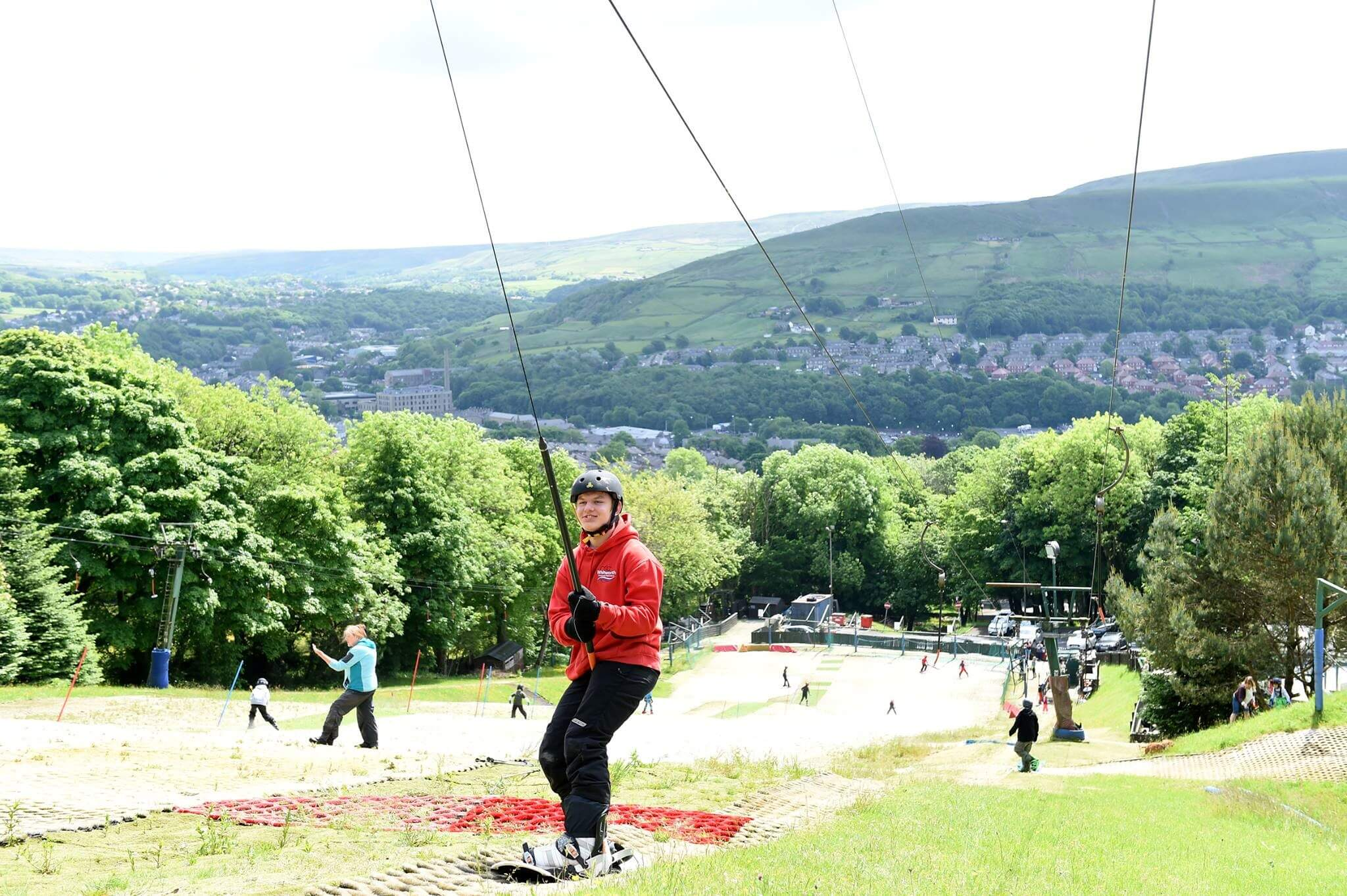 Image of person on a ski slope at The Hill - Ski Rossendale