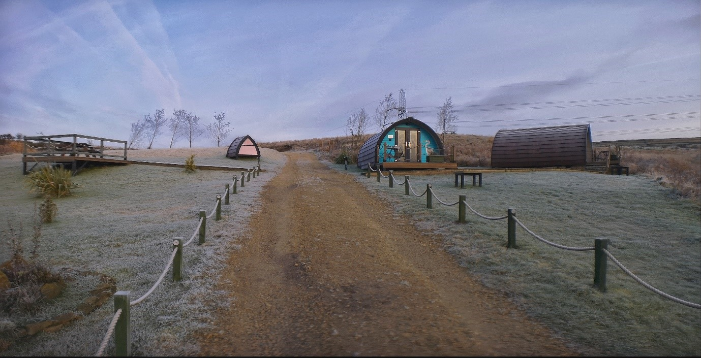 Series of glamping pods at the Rossendale Holiday Cottages for Visit Rossendale website