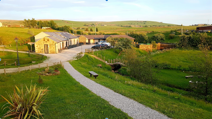 External shot of the self catering holiday cottages at the Rossendale Holiday Cottages for Visit Rossendale website
