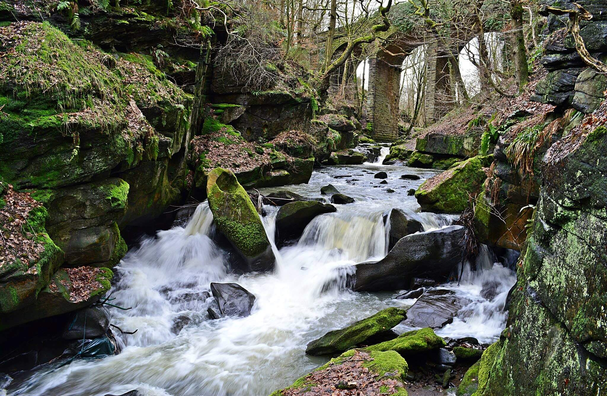 Image of waterfall that can be seen when walking in Rossendale for Visit Rossendale website